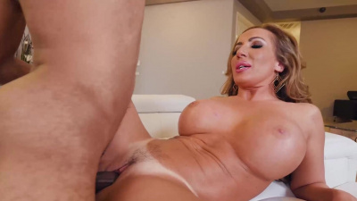 Busty Richelle Ryan sliding stepson's bbc between her legs