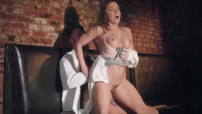 Bad Girl Justice Abigail Mac fucking her teacher in a public bar bathroom
