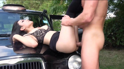 Sexy Japanese minx Rae Lil Black sucks and fucks in exchange for free drive