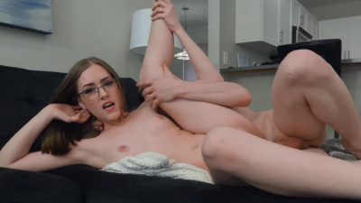 Cute Lindsey Love in glasses and small tits gets her hard fucked
