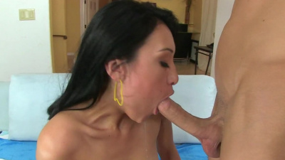 Skillfull asian Jayden Lee messy oral pleasure