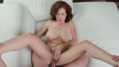 Busty milf Andi James fucks a random guy from the club raw