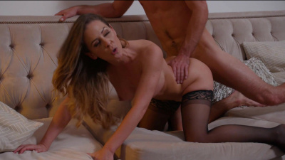 Cherie DeVille blackmails her innocent son's friend into fucking her brains out