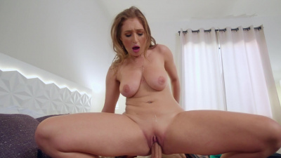 All-natural Skylar Snow gets oiled up and dicked down