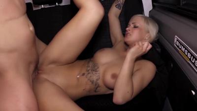 German blondie Kathi Rocks releases her inner slut during ride
