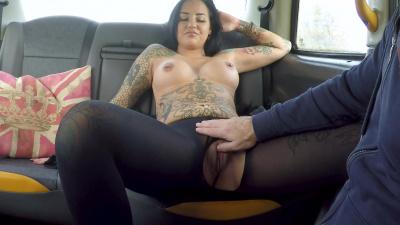 Beth Inked Princess rides dick till facial in the car