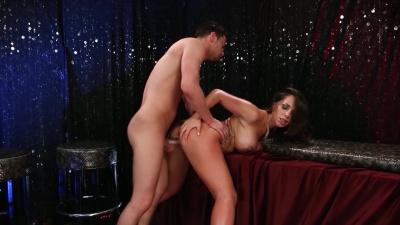 Buxom lady Destiny Dixon has protected sex in vip room