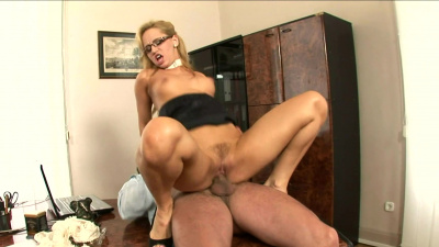 Sexy secretary Aleska Diamond screwed by boss