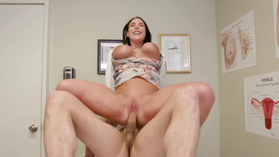 Hot doctor Angela White cures patient's erectile dysfunction