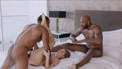 Carolina Sweets takes turns with two black studs